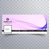 Design de banner de modelo de onda elegante facebook vetor