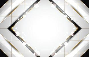 fundo quadrado branco e elementos pretos luxuosos vetor