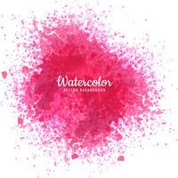 Fundo de design bonito rosa aquarela spray vetor