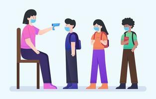 nova atividade normal do protocolo de saúde escolar vetor