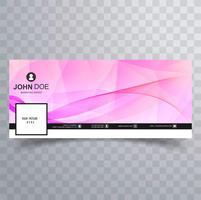 Design de banner elegante modelo de facebook vetor