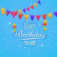 Feliz aniversário, cartão, decorativo, fundo vetor