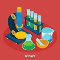 ilustração em vetor ciência composição isométrica