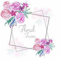 Fundo de quadro floral abstrato casamento aquarela vetor