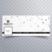 Design de vetor de banner moderno modelo de facebook