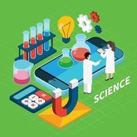 ilustração em vetor conceito isométrico química