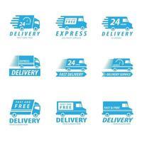 conceito de conjunto de logotipo de entrega vetor