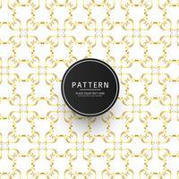Fundo abstrato dourado padrão floral vetor