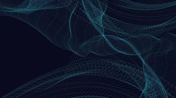 onda de som de linha digital em fundo azul vetor