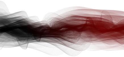 fundo vermelho e preto da onda sonora vetor