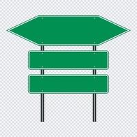 sinal de trânsito verde placa de trânsito vetor