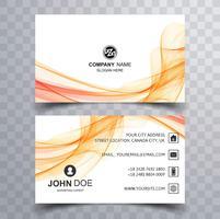 Cartão de visita moderno elegante fundo colorido onda vetor
