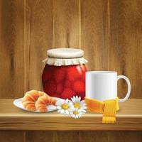 ilustração em vetor composição realista flor margarida