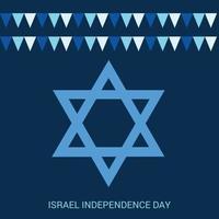 ilustração em vetor de um plano de fundo para o dia da independência de israel.