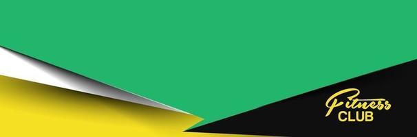 design de banner web de competição de clube de fitness vetor