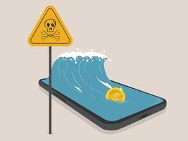 riscos de dependência de smartphones e crimes digitais vetor