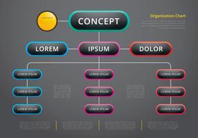 Organograma, estrutura de negócios vetor