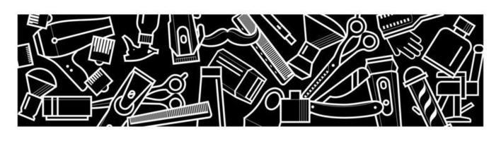barbearia fundo preto e branco vetor