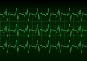 Vetor de monitor de batimento cardíaco