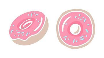 ilustração vetorial de donut vetor