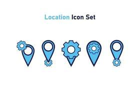 ícone definido com o símbolo de localização. conceito de configuração de localização. ilustração vetorial, conceito de ícone de vetor. vetor