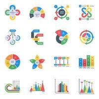 infográficos modernos editáveis vetor