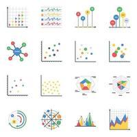 tabelas e gráficos editáveis vetor