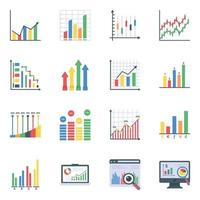 dados infográficos planos vetor