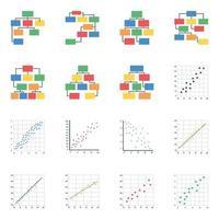 hierarquia e gráficos de dispersão vetor
