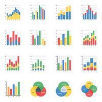 análise de dados plana vetor
