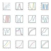 ícones planos de diagramas modernos vetor