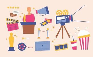 equipamento de cinema e festival de cinema vetor
