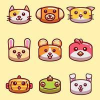 coleção de ícones de animais de estimação vetor