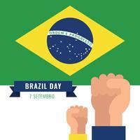 Celebrando o Dia da Independência do Brasil vetor