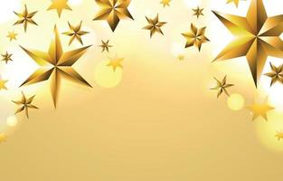 fundo de composição de estrelas douradas brilhantes vetor