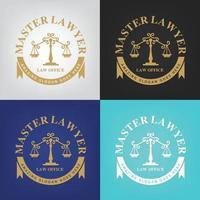 logotipo de advocacia, escritório de advocacia, escritório de advocacia, logotipo de advocacia, modelo de identidade corporativa. vetor