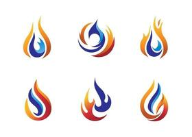 vetor de modelo de logotipo de fogo e gás