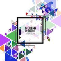Vetor de fundo moderno triângulos coloridos