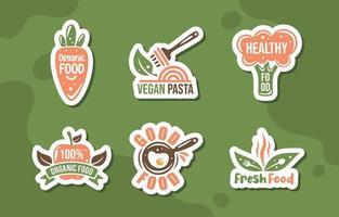 coleção de logotipo de comida saudável vetor