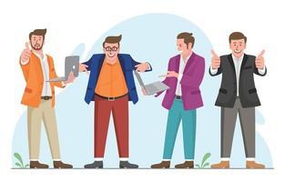 conjunto de caracteres de empresário vetor