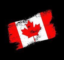 fundo de escova de grunge de bandeira de Canadá. ilustração em vetor bandeira escova velha. conceito abstrato de fundo nacional.
