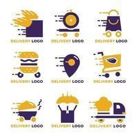 coleção de logotipo de entrega vetor