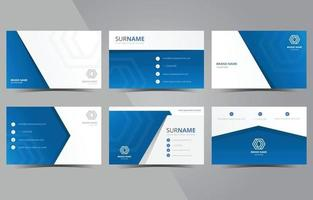 modelo de cartão de negócios criativo e limpo azul moderno vetor
