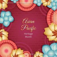 modelo de ilustração do mês da herança do Pacífico asiático vetor