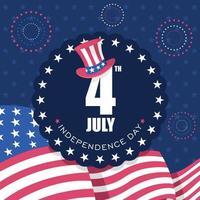 4 de julho, fundo do dia da independência vetor