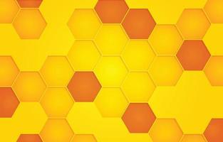 fundo de favo de mel amarelo vetor