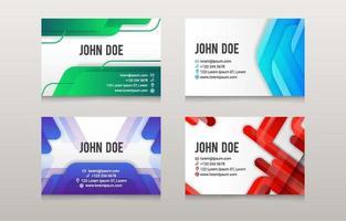 modelo de cartão de visita colorido abstrato vetor