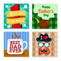 modelo de cartão de felicitações para o dia dos pais vetor