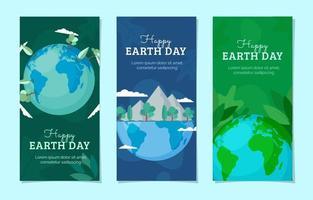 modelo de banner do dia da terra vetor
