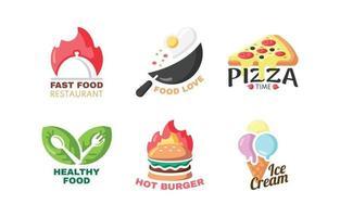 coleção de logo de comida vetor